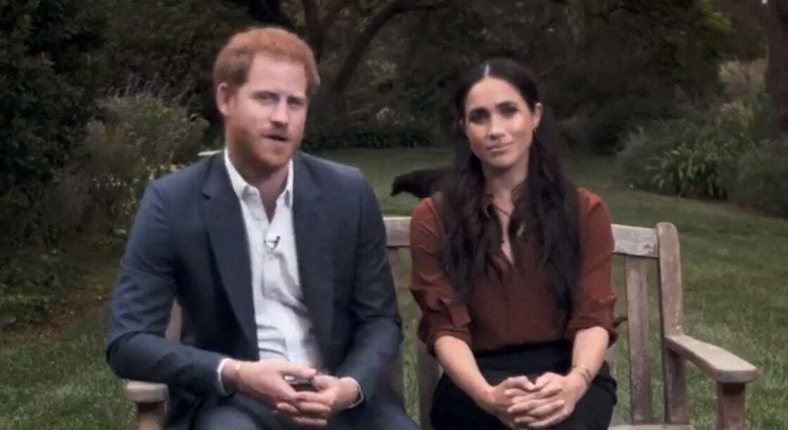 Meghan Markle et le prince Harry en pleine interview pour TIME 100 television ABC