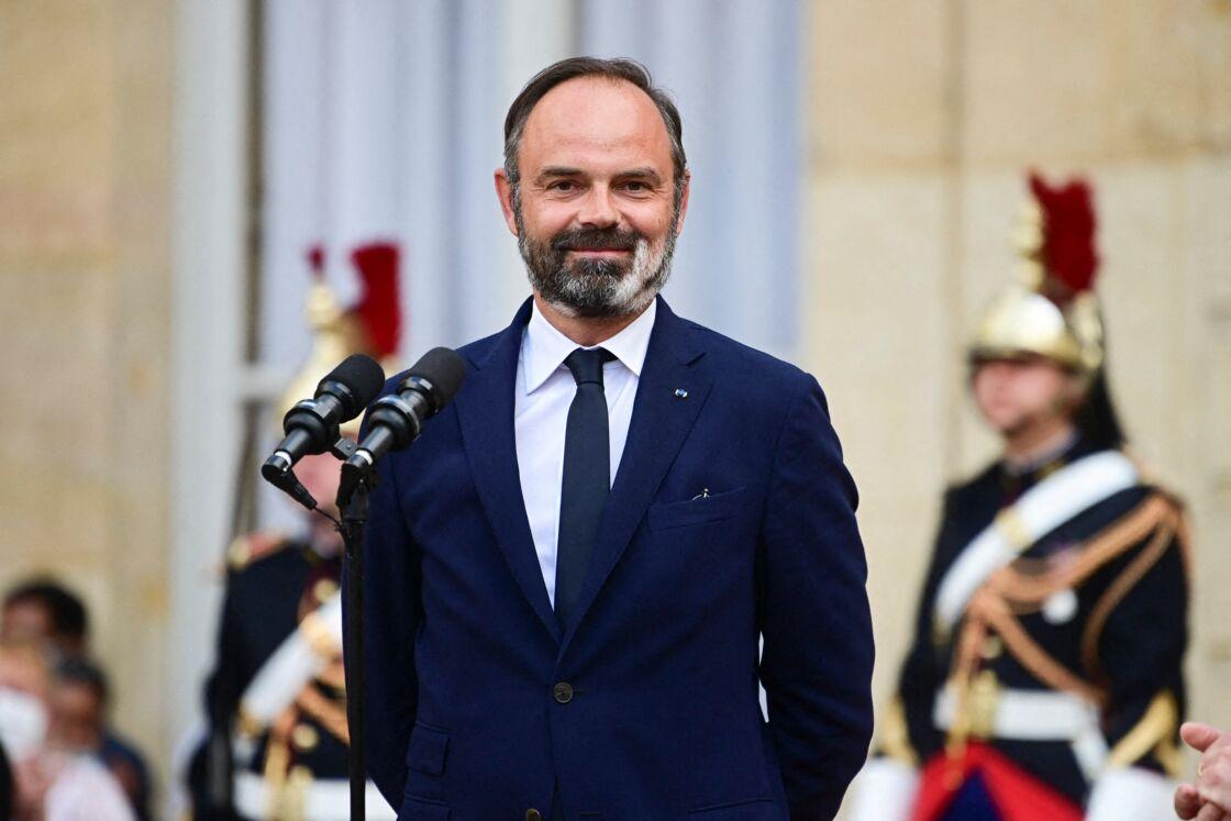 Edouard Philippe lors de la passation de pouvoirs