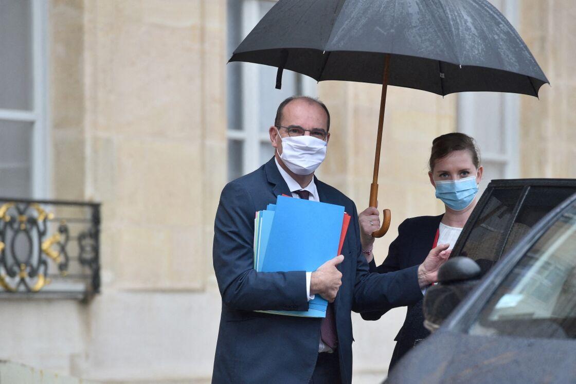 Jean Castex à la sortie du conseil des ministres à l'Elysée, le 28 septembre 2020.