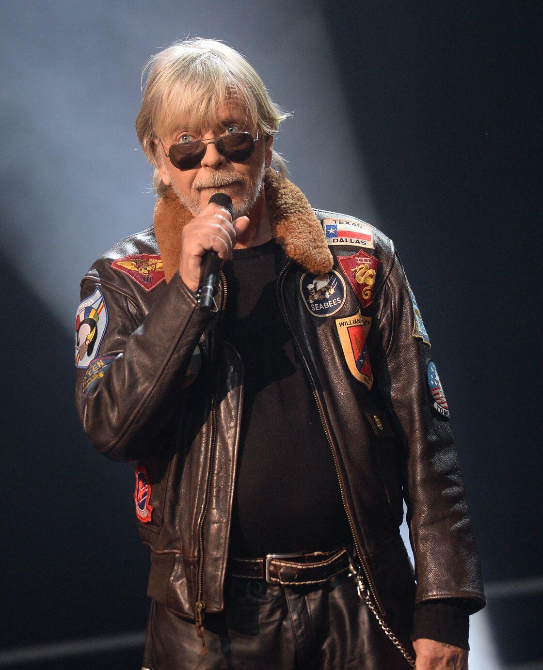 Le chanteur Renaud a reçu le Prix spécial de la Sacem à Paris, le 10 décembre 2018.