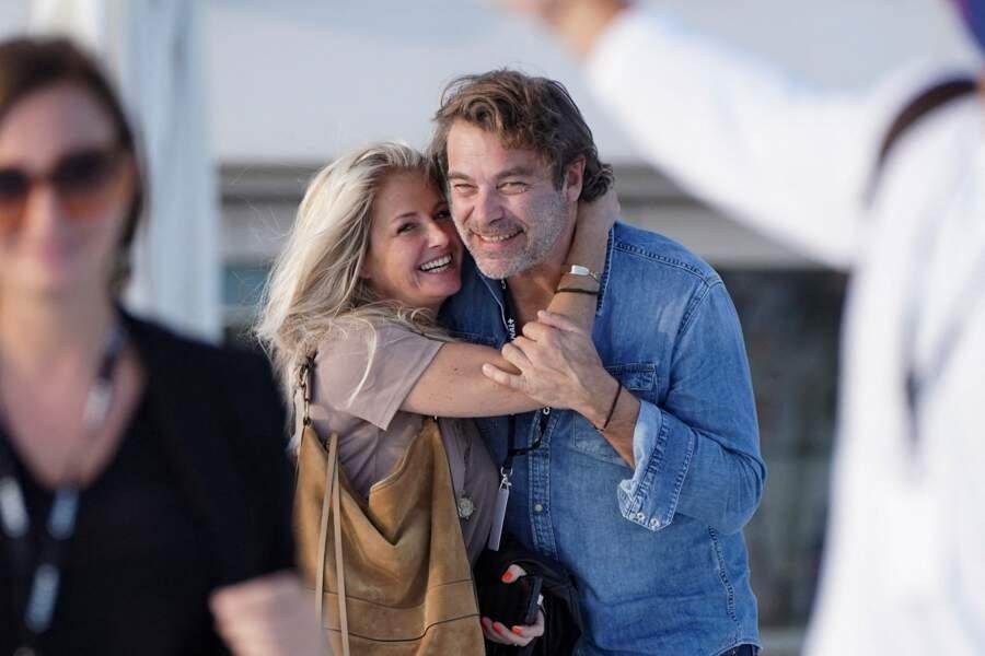 Patrick Puydebat et sa compagne Caroline, plus complices que jamais au Festival Canneseries ce 10 octobre 2020.