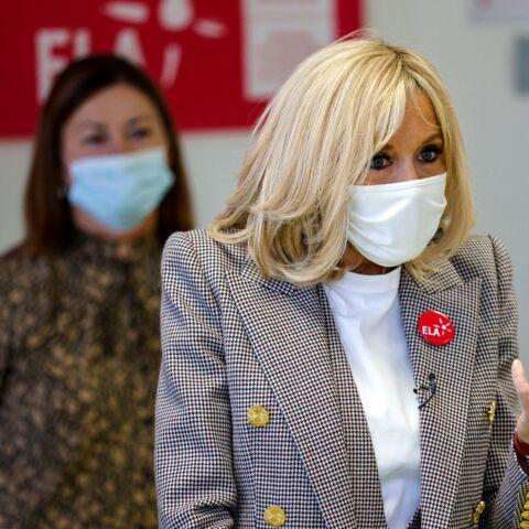 PHOTOS – Brigitte Macron ultra-lookée en Alexandre Vauthier pour la dictée ELA