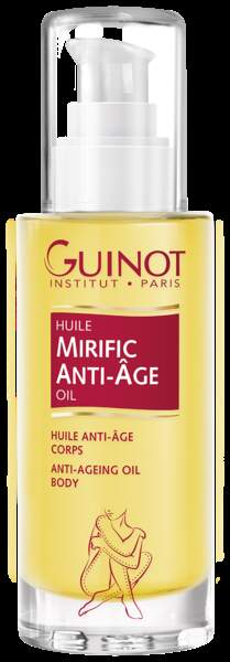 Huile Mirific anti-âge corps, Guinot, 45€.