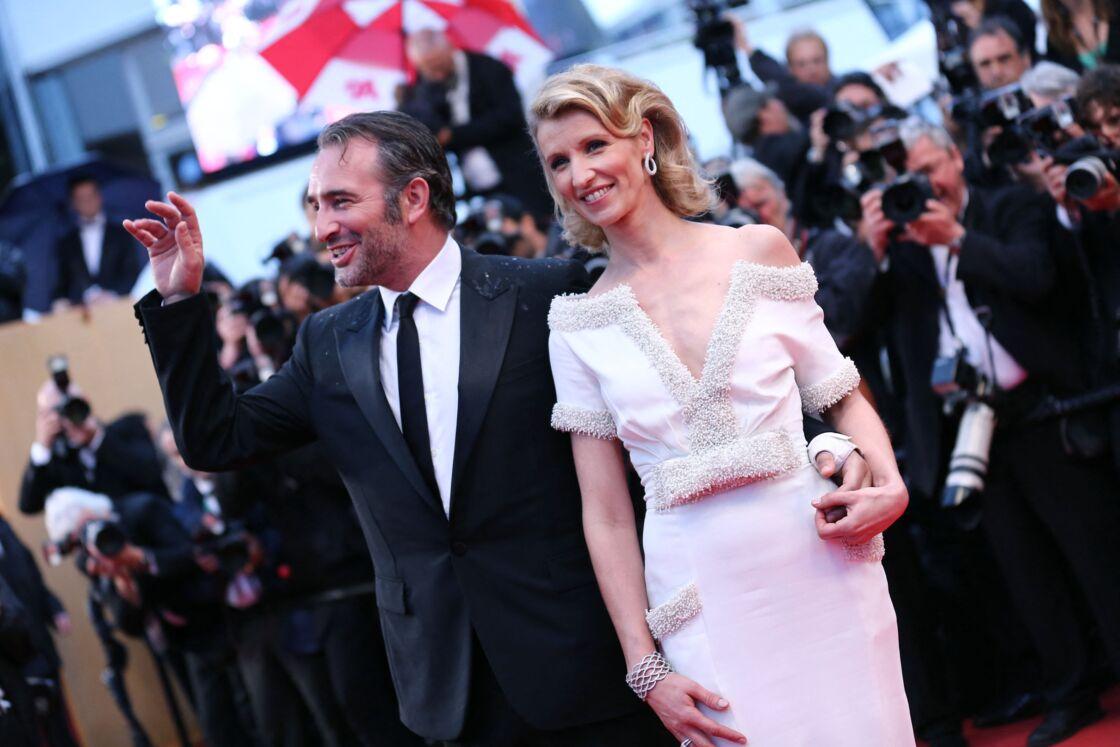 Jean Dujardin et Alexandra Lamy à Cannes le 27 mai 2012