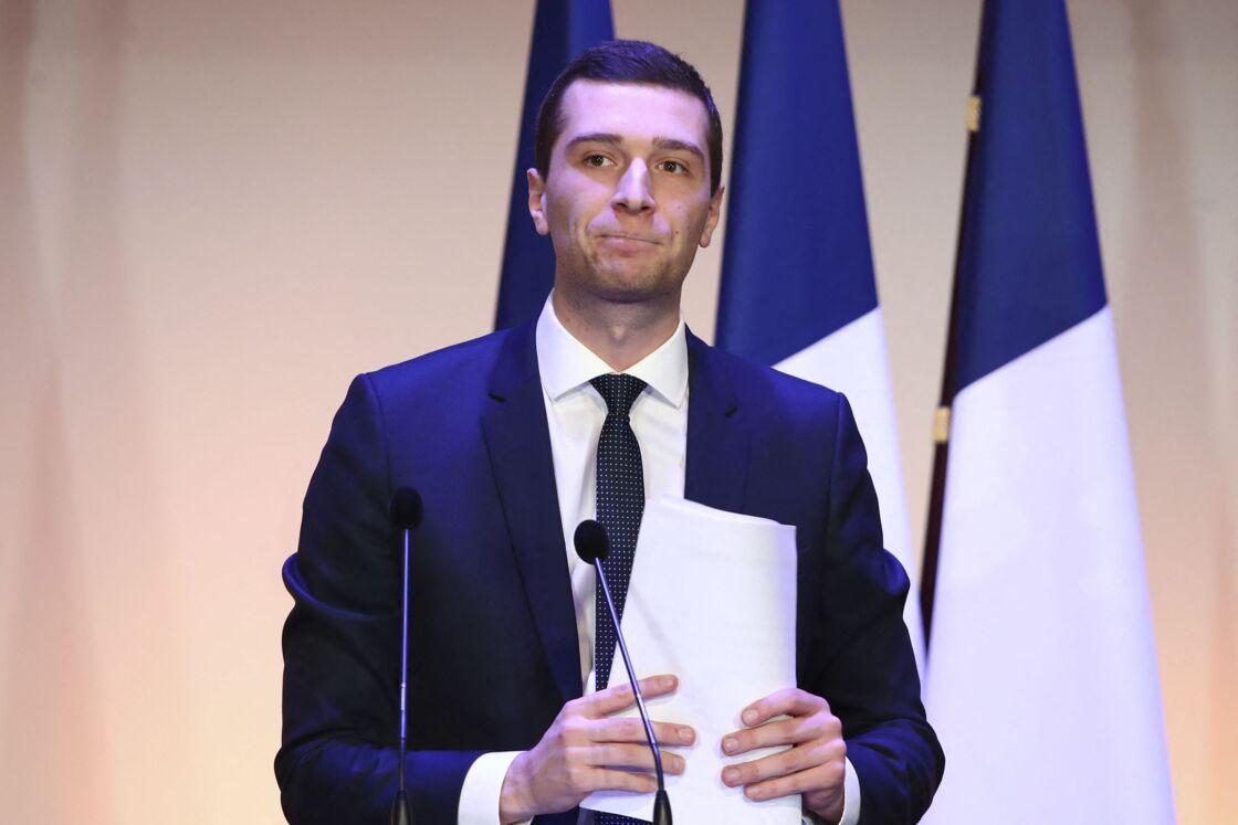 Jordan Bardella (vice-président du Rassemblement National RN) lors dela Convention nationale des municiaples du Rassemblement National à Paris, France, le 12 janvier 2020