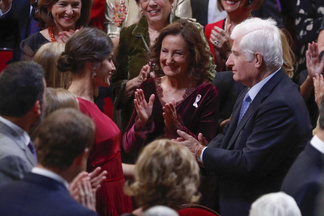 Paloma Rocasolano, avec sa fille, la reine Letizia, lors de la remise des prix de la Princesse des Asturies, le 18 octobre 2019.