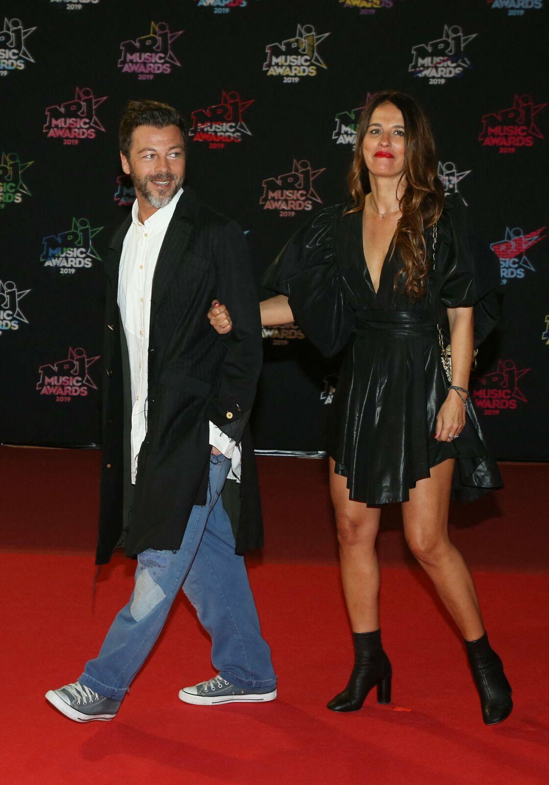 Christophe Maé et sa femme Nadège Sarron - 21ème édition des NRJ Music Awards au Palais des festivals à Cannes le 9 novembre 2019