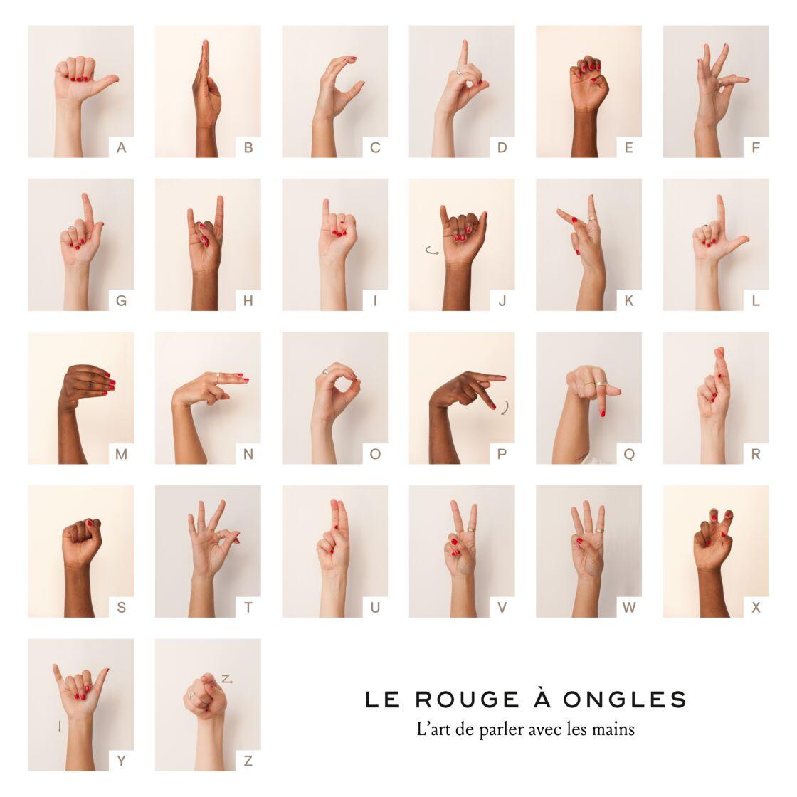 Le Rouge à Ongles : une démarche mêlant beauté et engagement puisqu'à travers ses vernis, la marque veut démocratiser le langage des signes pour favoriser la mixité et la compréhension entre sourds et entendants.