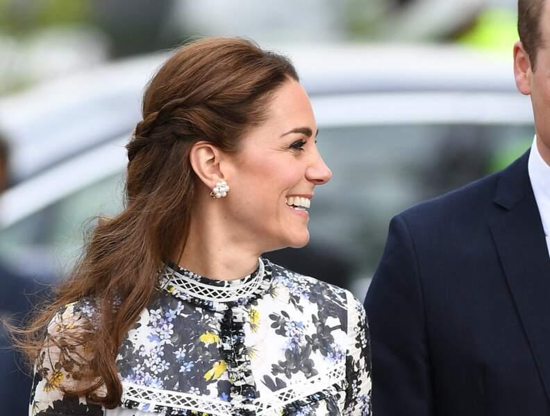 Demie-queue tressée pour Kate Middleton