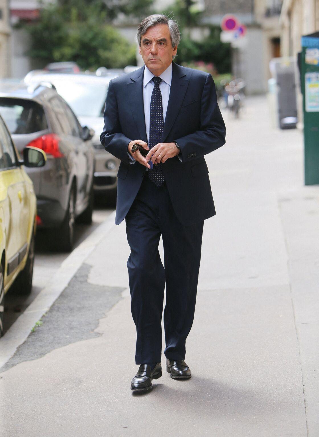 François Fillon se rend au tribunal correctionnel de Paris pour l'affaire des emplois présumés fictifs de la femme de l'ex-Premier ministre. Paris le 29 juin 2020.