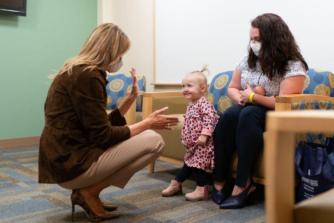 Melania Trump en visite à l'hôpital de Concord (New Hampshire), le 17 septembre 2020.