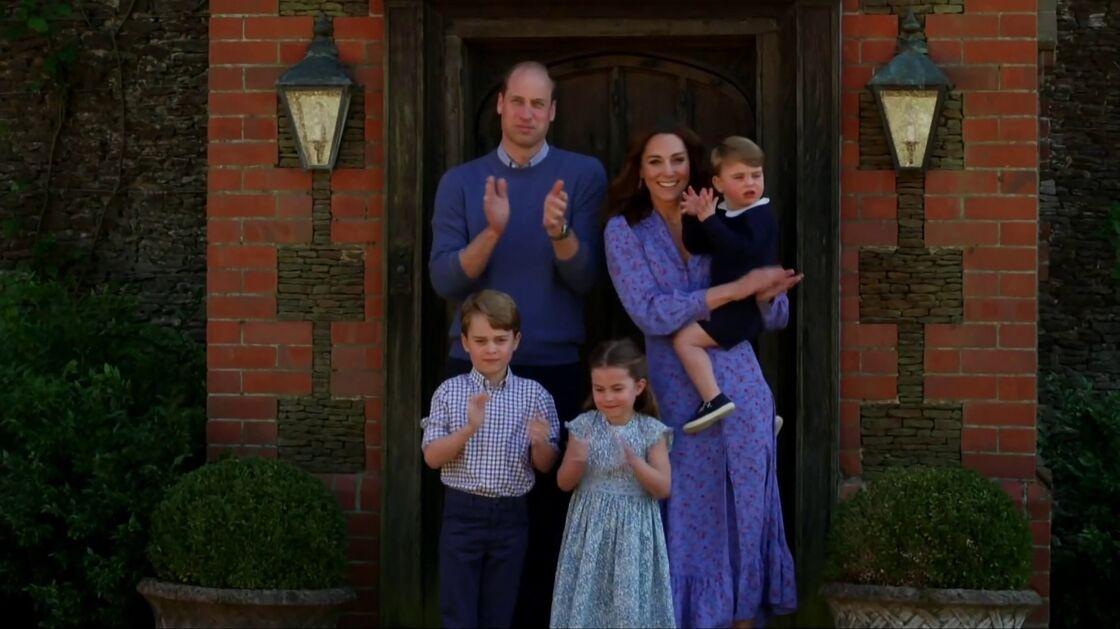 Le prince William, Kate Middleton et leurs enfants, George, Charlotte et Louis le 24 avril 2020