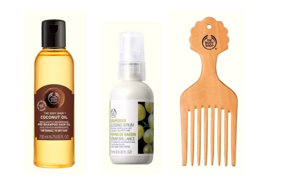Trio pour donner du corps et du brillant aux cheveux épais, The Body Shop