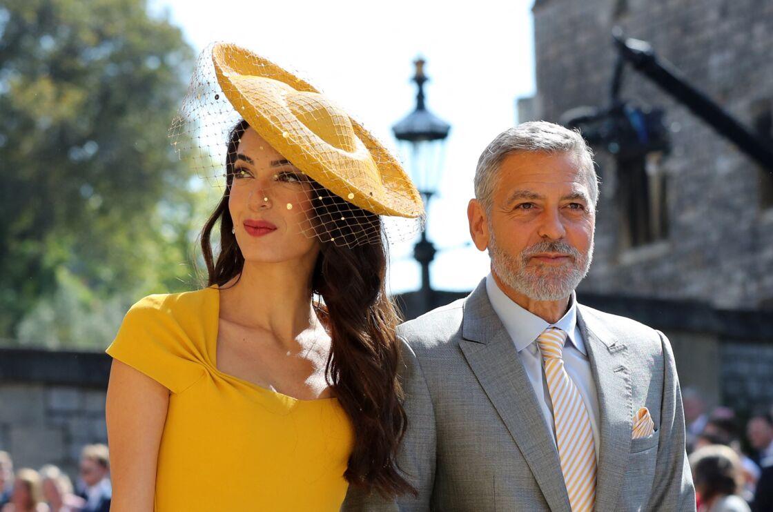 George et Amal Clooney au mariage des Sussex