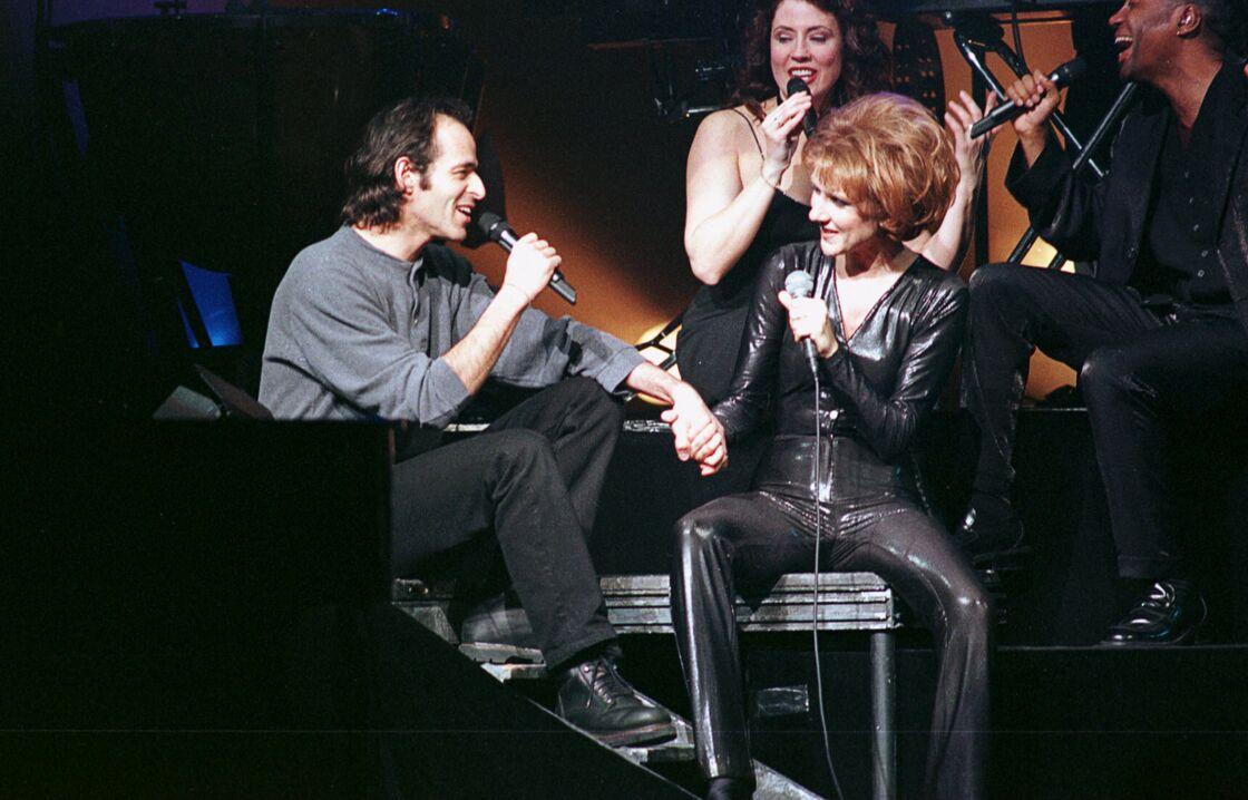Jean-Jacques Goldman et Céline Dion en concert le 23 janvier 1996