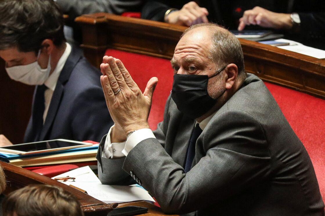 Éric Dupond-Moretti, Garde des Sceaux, ministre de la Justice - Séance de questions au gouvernement à l'Assemblée Nationale à Paris le 27 octobre 2020.