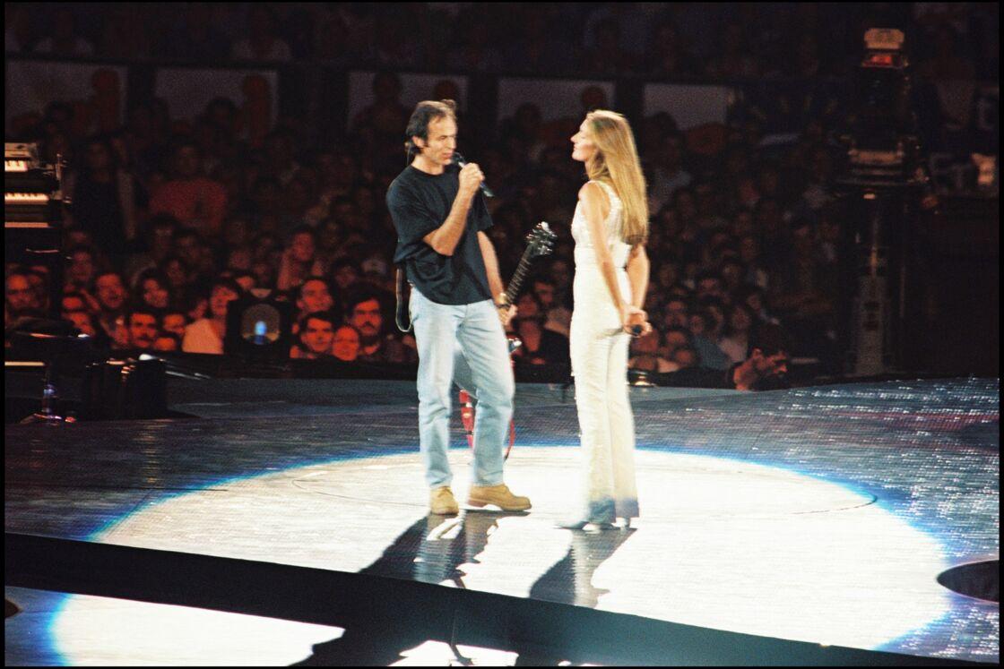 Jean-Jacques Goldman et Céline Dion au Stade de France le 20 juin 1999
