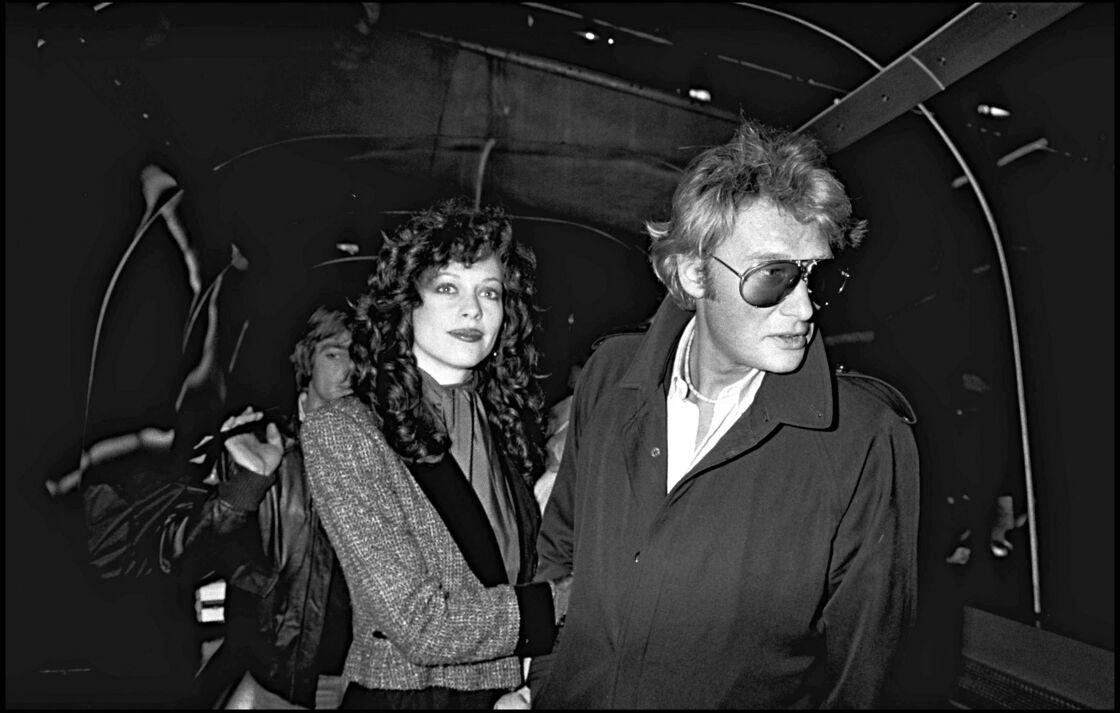 Babeth Etienne et Johnny Hallyday en 1980