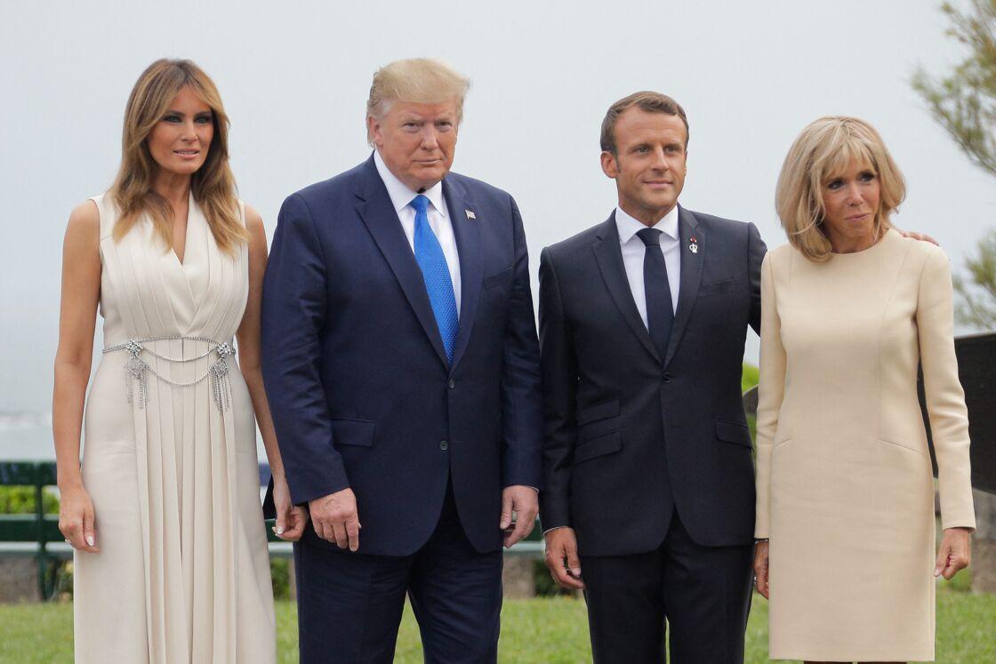 Melania et Donald Trump aux côtés d'Emmanuel et Brigitte Macron