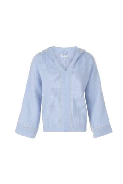 Pull à capuche avec chaînettes platon bluebeach, 420€, Max & Moi