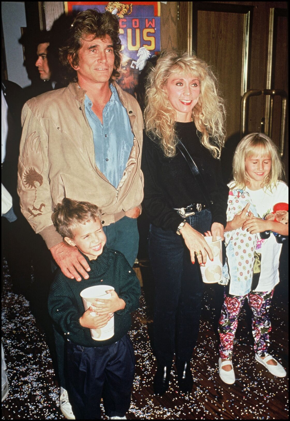 Michael Landon, son épouse Cindy et leurs deux enfants
