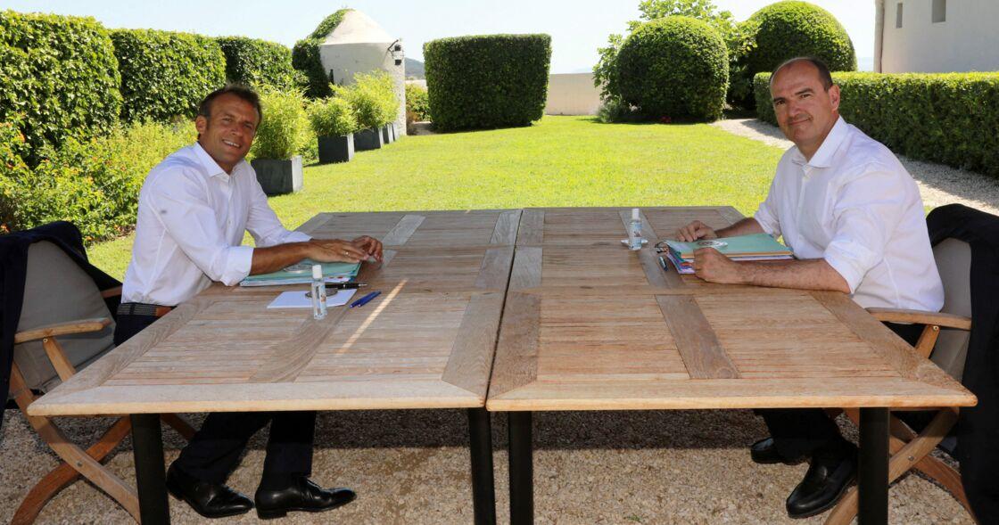 Emmanuel Macron et Jean Castex au Fort de Brégançon le 21 août 2020