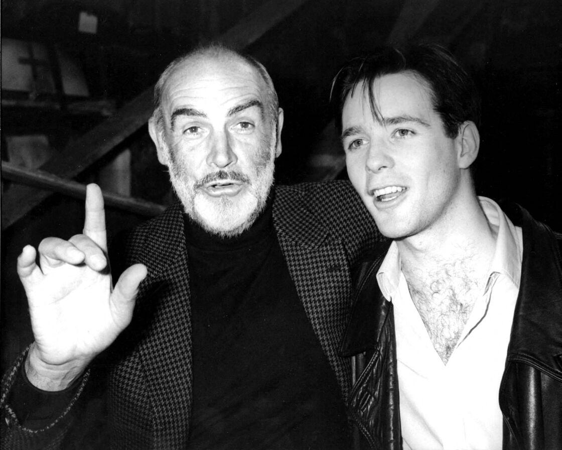 Sean Connery et son fils, Jason, le 20 octobre 1988, à New York.