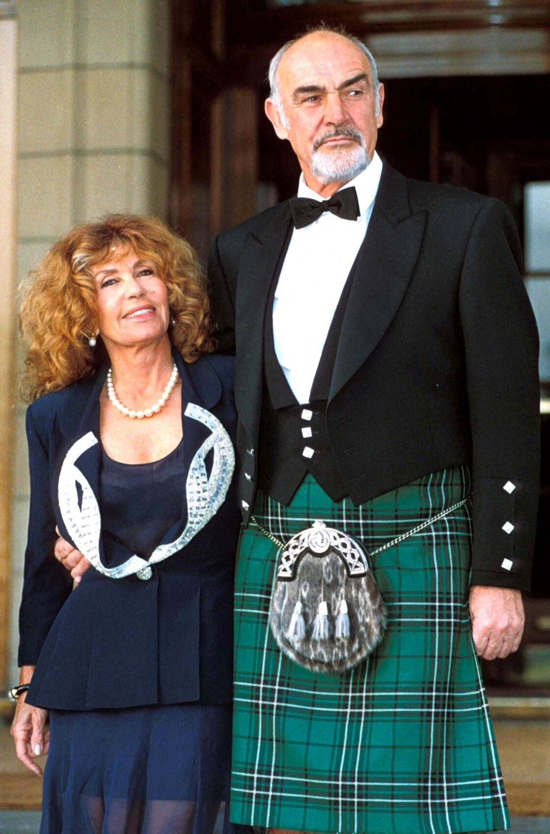 Sean Connery et sa compagne Micheline Roquebrune