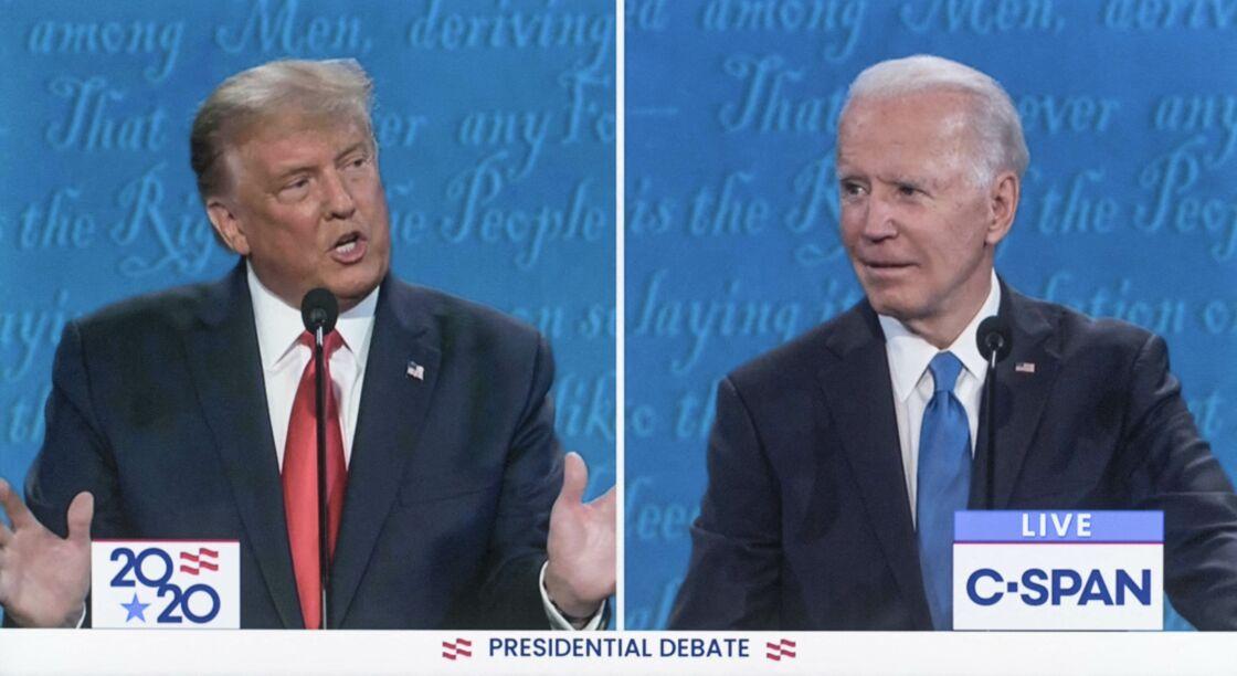 Donald Trump et Joe Biden lors d'un débat télévisé