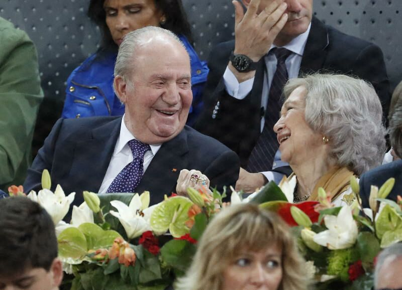 Juan Carlos et Sofia d'Espagne aux Master Series Madrid, le 11 mai 2019