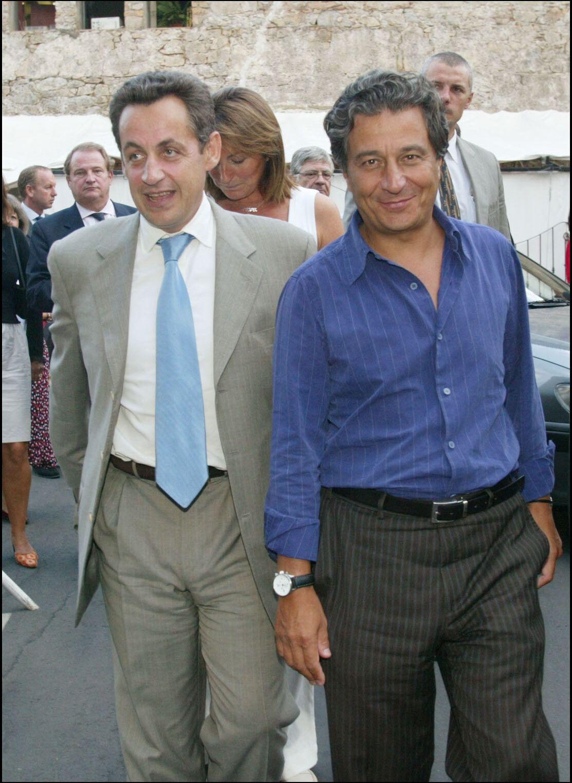 Nicolas Sarkozy et Christian Clavier le 12 septembre 2004