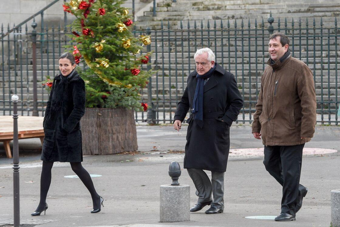 Jean-Pierre Raffarin aux obsèques de Johnny Hallyday, à Paris, le 9 décembre 2017.