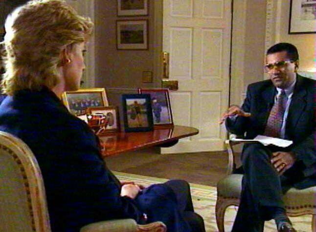 Diana lors de son interview avec Martin Bashir pour la BBC, en 1995