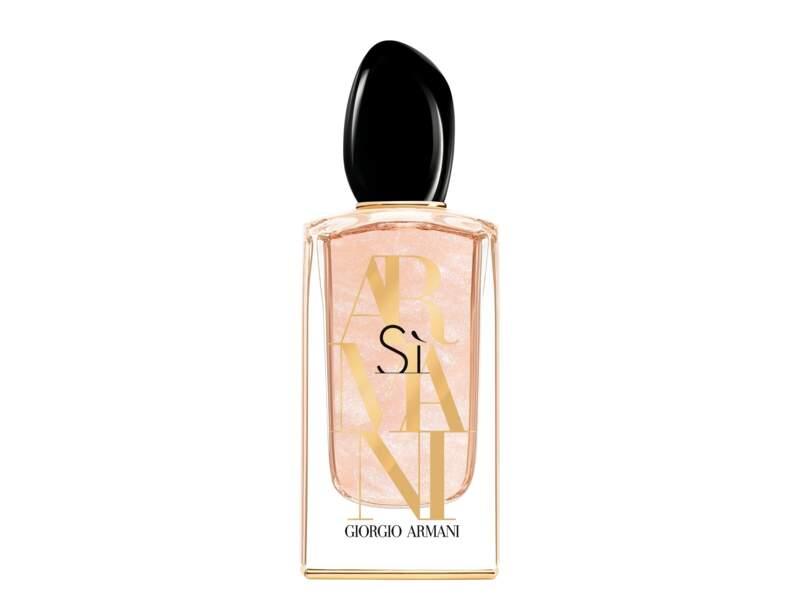 Eau de Parfum Sí Nacre Édition, Giorgio Armani, 124 € les 100 ml en exclusivité chez Nocibé et dans les boutiques Mode Armani