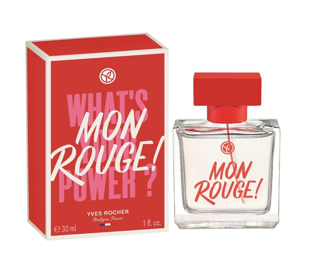 Mon Rouge ! d'Yves Rocher est une fragrance joyeuse qui met l'iris et le patchouli à l'honneur.