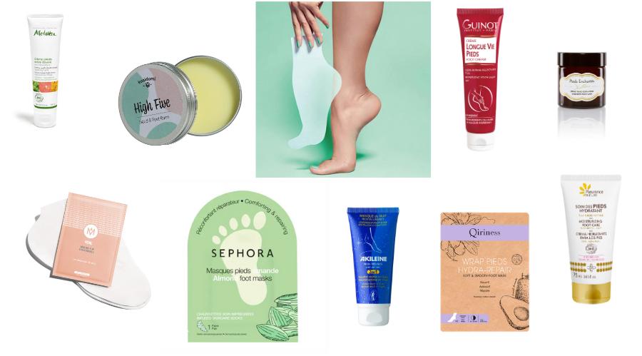 Des soins formulés pour la peau spécifique des pieds, à utiliser régulièrement pour les préserver.