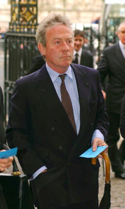 Roddy Llewllyn aux funérailles de la princesse Margaret