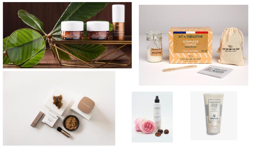 Des produits contenant des extraits de châtaigne pour prendre soin de soi, de la tête aux pieds