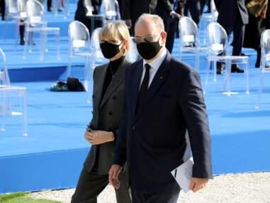 Charlène et Albert de Monaco émus lors de l'hommage de Nice