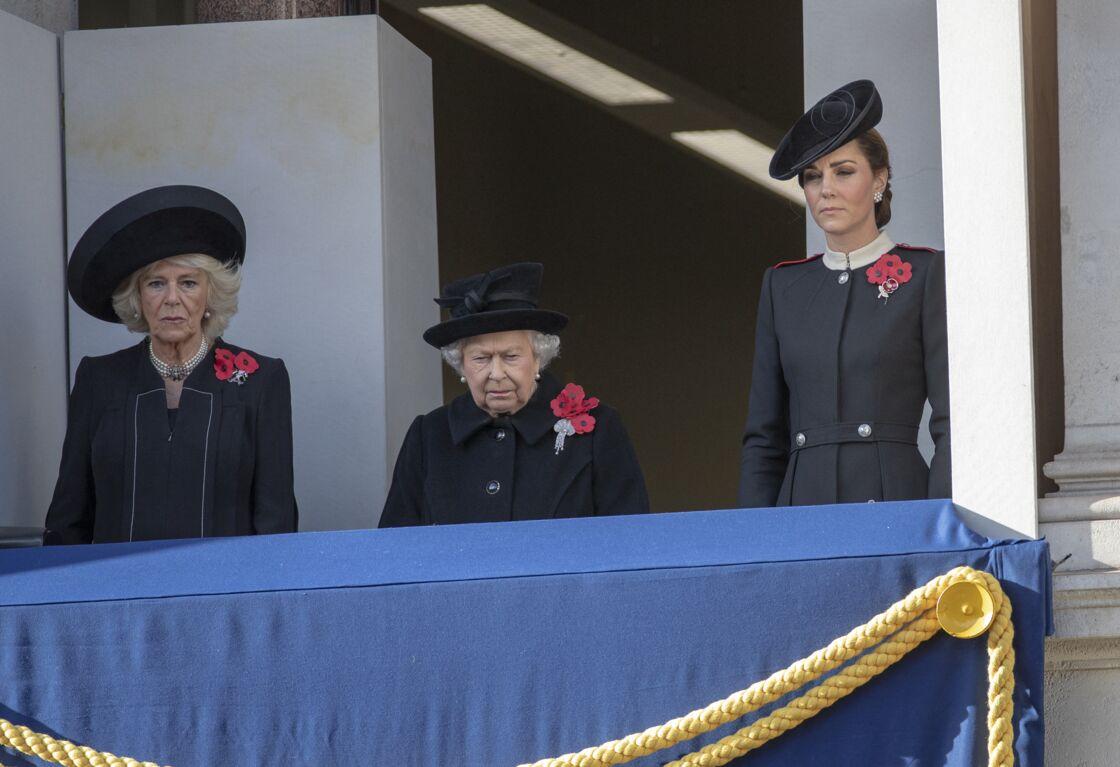 Elizabeth II, Camilla Shand et Kate Middleton le 11 novembre 2018