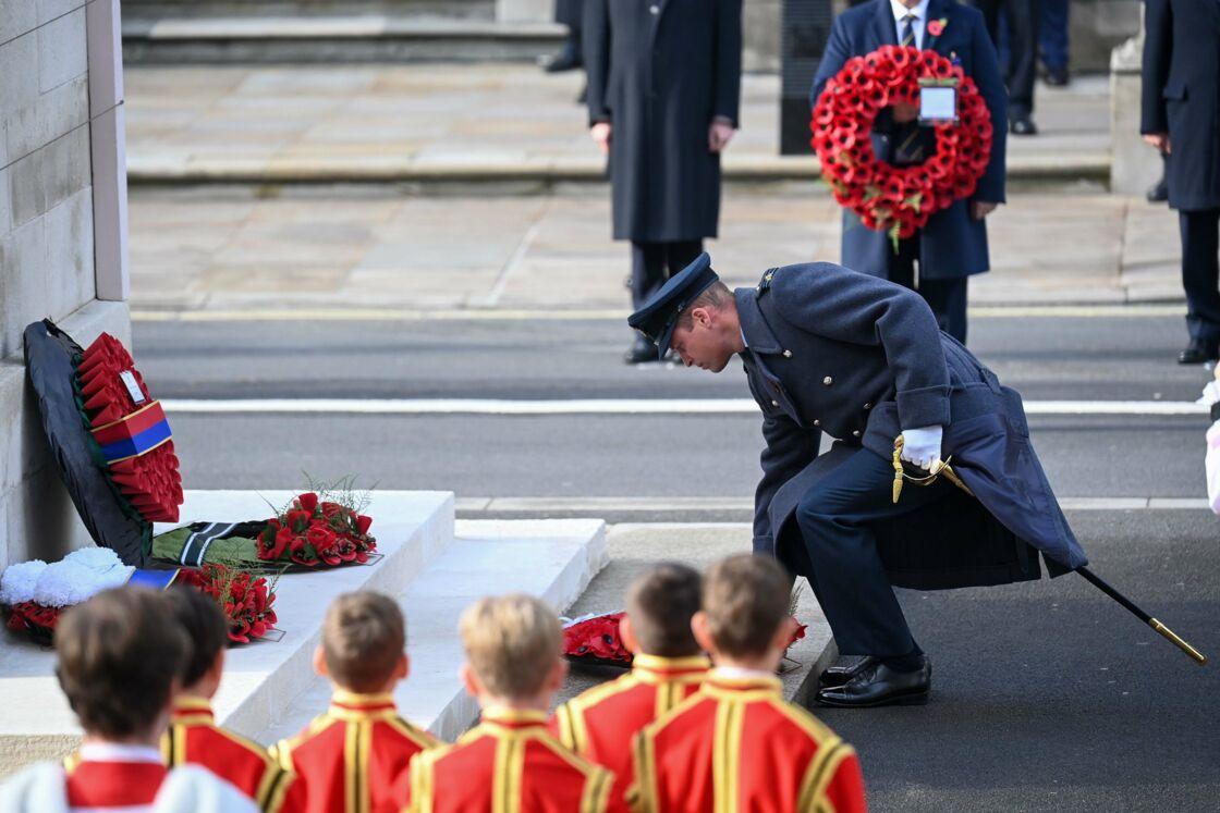 Le prince William au Cénotaphe de Westminster, ce dimanche 8 novembre 2020