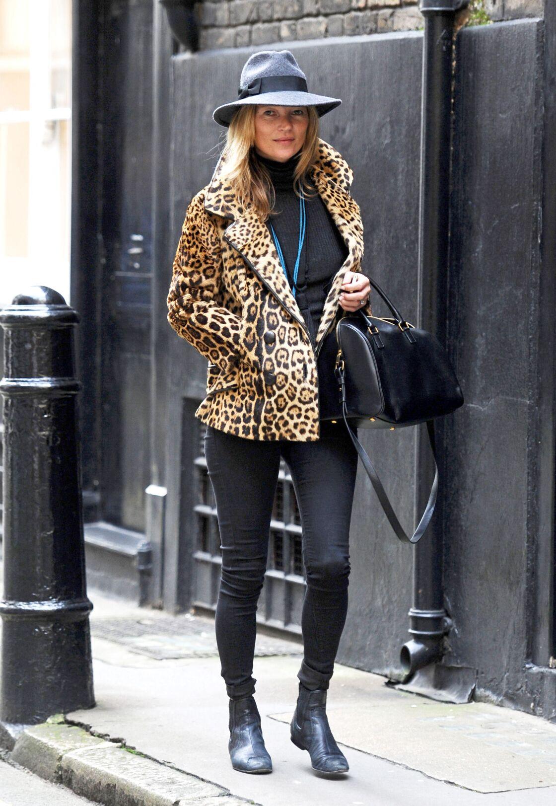 Kate Moss est connue comme étant la reine du léopard... Ce motif n'a aucun secret pour elle !