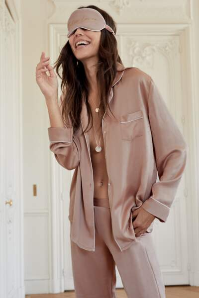 Haut et bas de pyjama poudre - Etam, 29,99€ et 27,99€