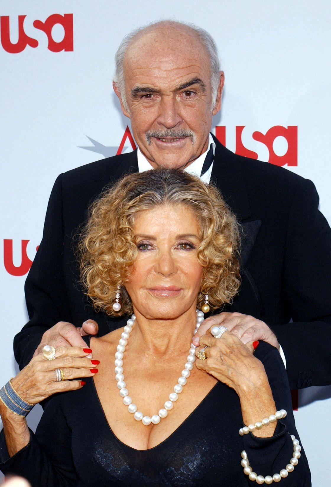 Micheline Roquebrune et son mari Sean Connery