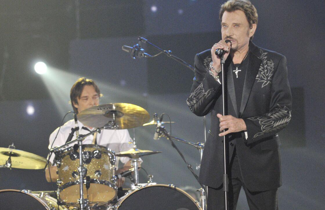 David et Johnny Hallyday aux Victoires de la Musique 2009