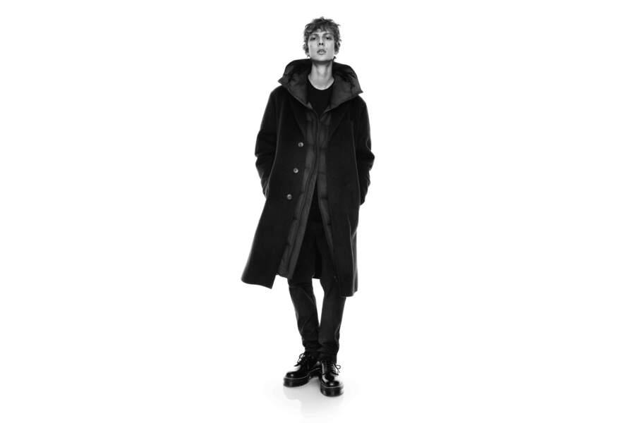Manteau en laine mélangée, 199,90€, Collaboration Jil Sander et Uniqlo