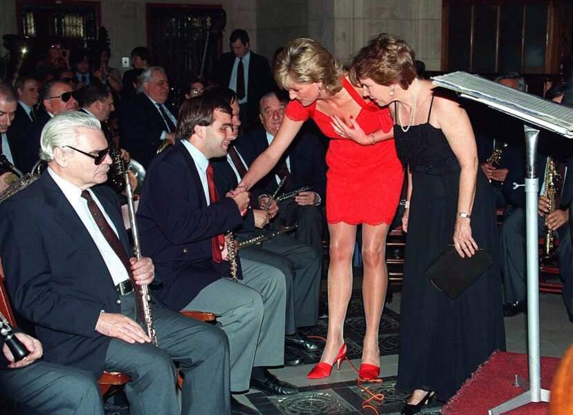 La princesse Diana en Argentine, en 1995
