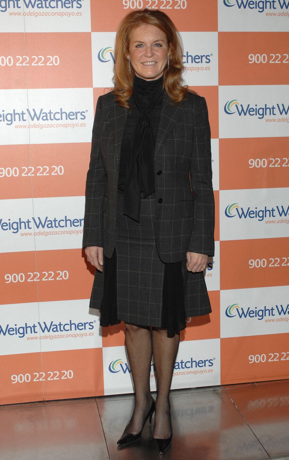 Sarah Ferguson, dans son rôle d'ambassadrice pour Weight Watchers en 2007