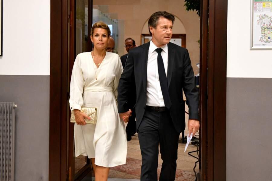 Christian Estrosi et Laura Tenoudji en juin 2020