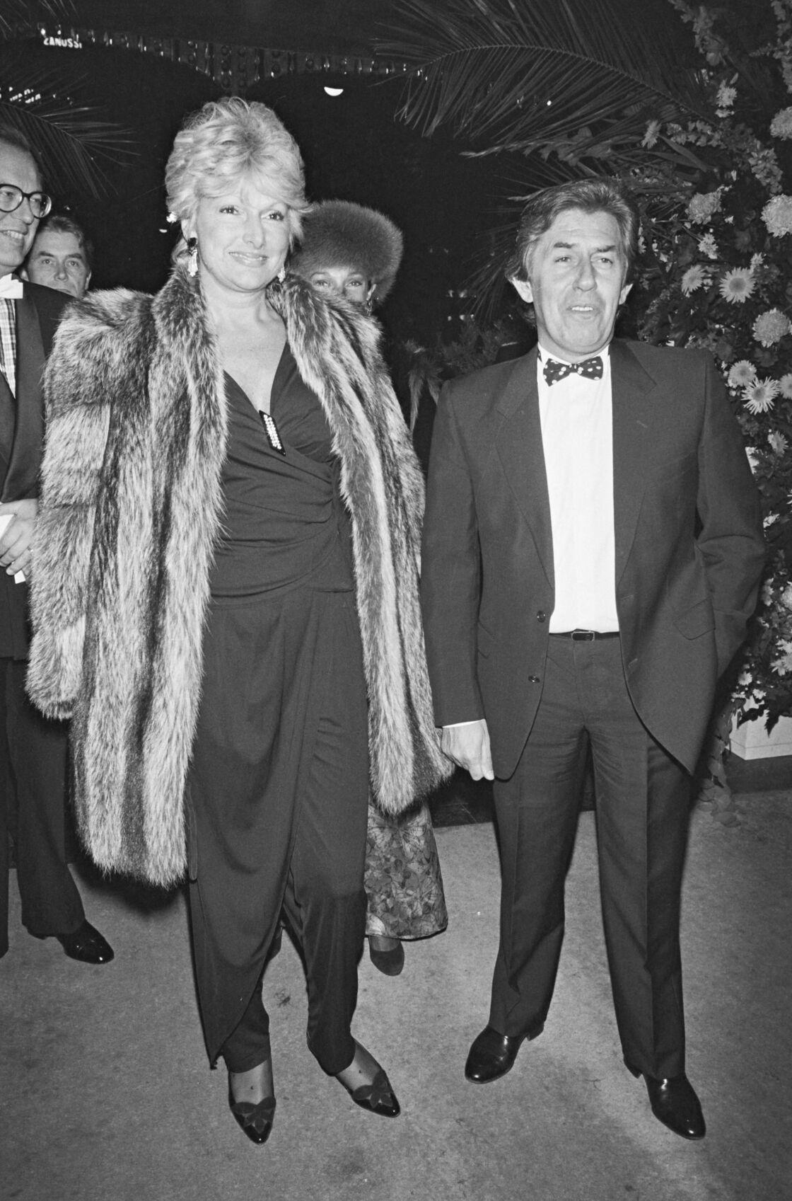 Maryse et Philippe Gildas lors de la soirée des 7 D'Or, en 1985.